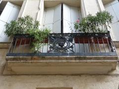 Hôtel de Saint-Félix - Català: Balcó de l'Hôtel de Saint-Félix (Montpeller)