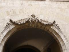 Hôtel des Trésoriers de la Bourse - Català: Detall a l'Hôtel des Trésoriers de la Bourse