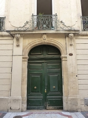 Hôtel Lamouroux - Català: Porta de l'Hôtel Lamouroux (Montpeller)