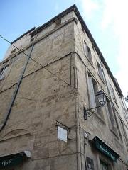 Immeuble - Català: Façana de l'edifici a la rue des Soeurs-Noires, 3 (Montpeller)