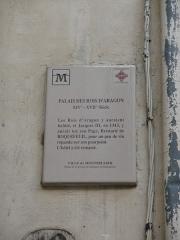 Palais des Rois d'Aragon - Català: Placa identificadora del Palau dels Reis d'Aragó (Montpeller)