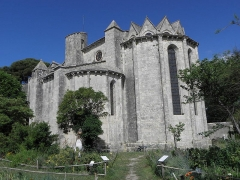 Abbaye de Vignogoul - Chevet de l'abbatiale de Vignogoul en Pignan (34).
