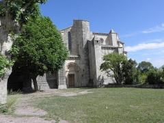 Abbaye de Vignogoul - Vue méridionale de l'abbatiale de Vignogoul en Pignan (34).