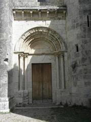 Abbaye de Vignogoul - Porte méridionale de l'abbatiale de Vignogoul en Pignan (34).