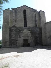 Abbaye de Vignogoul - Façade occidentale de l'abbatiale de Vignogoul en Pignan (34).