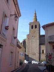 Eglise Saint-Félix - Portiragnes (Hérault) -  clocher de l'église Saint-Félix.
