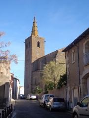 Eglise Saint-Félix - Portiragnes (Hérault) - Façade latérale et clocher de l'église Saint-Félix.