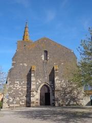 Eglise Saint-Félix - Portiragnes (Hérault) - Façade occidentale de l'église Saint-Félix.