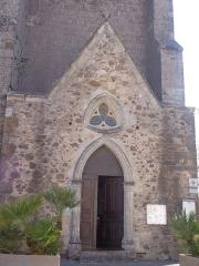 Eglise Saint-Félix - Portiragnes (Hérault) - Portail latéral de l'église Saint-Félix.