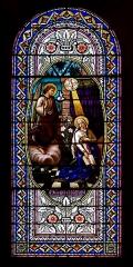 Eglise Sainte-Marie - Un des vitraux de l'église de l'Assomption-de-Notre-Dame à Quarante (France)