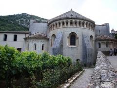 Ancienne abbaye de Gellone - English: Saint-Guilhem-le-Désert abbaye de Gellone extérieur
