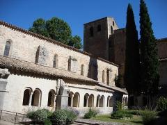 Ancienne abbaye de Gellone - English: St.Guilhem-le-Désert cloitre extérieur