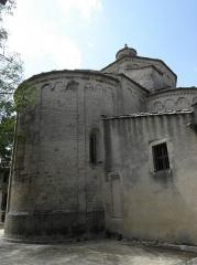 Eglise Saint-Martin - Chevet de l'église Saint-Martin de Saint-Martin-de-Londres (34).