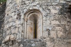 Eglise Saint-Martin - English:  Apse window of the Saint Martin Church of Sauteyrargues, XIIth century.