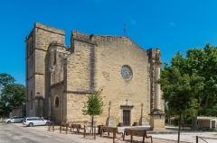 Eglise Saint-Saturnin - English: Saint Saturnin Church of Tourbes, Hérault, France
