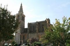 Eglise Saint-Jean-Baptiste -  Vias (Hérault) - Façade nord de l'église Saint-Jean-Baptiste (XIVe - XVe siècles).