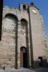 Eglise Sainte-Léocadie - Français:   Vic-la-Gardiole (Hérault)- Sainte-Léocadie (église romane fortifiée du XIIe siècle)