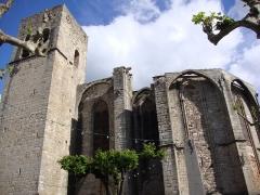 Eglise Saint-Majan - Français:   Villemagne-l\'Argentière (Hérault, Fr) le haut de l\'église Saint-Majan
