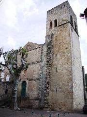 Eglise Saint-Majan - English:   Villemagne-l\'Argentière (Hérault, Fr) l\'église Saint-Majan, sa tour.
