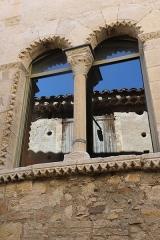 Hôtel des Monnaies - Français:   Villemagne-l\'Argentière (Hérault) - Maison des Monnaies - fenêtre 4 (fenêtre géminée, restaurée)