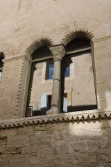 Hôtel des Monnaies - Français:   Villemagne-l\'Argentière (Hérault) - Maison des Monnaies - fenêtre 2 a (fenêtre géminée de droite, restaurée)