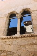 Hôtel des Monnaies - Français:   Villemagne-l\'Argentière (Hérault) - Maison des Monnaies - fenêtre 5 (fenêtre géminée, restaurée)