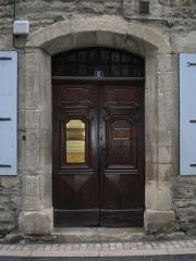 Maison - Français:   Porte Maison de Malgoire de Salles, 5 Rue Basse, Mende, Lozère, France