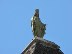 Eglise Notre-Dame - Français:   Quézac - Eglise détail de la tour