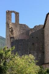 Ancienne abbaye - Français:   Ruines du monastère de Sainte-Enimie (Lozère, France)