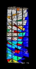 Eglise paroissiale Sainte-Enimie - English:   Stained glass window of the church of Notre-Dame-du-Gourg in Sainte-Enimie, Lozère, France        This building is inscrit au titre des monuments historiques de la France. It is indexed in the base Mérimée, a database of architectural heritage maintained by the French Ministry of Culture,under the reference PA00103921 .  беларуская (тарашкевіца)| বাংলা| brezhoneg| català| Deutsch| Ελληνικά| English| Esperanto| español| euskara| suomi| français| magyar| italiano| 日本語| македонски| Nederlands| português| português do Brasil| română| русский| sicilianu| svenska| українська| العربيَّة| +/−