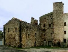 Hameau du Taxo d'Avall - Deutsch: Église Saint-Martin-et-Sainte-Croix in Taxo d'Avall, einem ehemaligen befestigtem Dorf aus dem 11. Jh., Argelès, Frankreich (Ansicht W}.