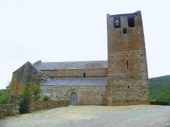 Abbaye de Serrabona - Català: Façana oest de Santa Maria de Serrabona, Rosselló