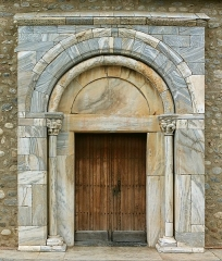 Eglise Sainte-Marie - Deutsch: Portal der Kirche Sainte-Marie de Brouilla (12. Jh.), Frankreich