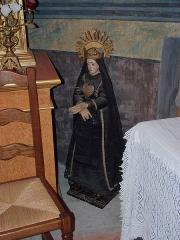 Eglise paroissiale Saint-Pierre et Saint-Félix - Vierge noire, Église paroissiale Saint-Félix, Calmeilles (Pyrénées-Orientales, Languedoc-Roussillon, France)