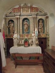Eglise paroissiale Saint-Pierre et Saint-Félix - Autel latéral et retable, Église paroissiale Saint-Félix, Calmeilles (Pyrénées-Orientales, Languedoc-Roussillon, France)