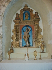 Eglise paroissiale Saint-Pierre et Saint-Félix - Retable latéral, Église paroissiale Saint-Félix, Calmeilles (Pyrénées-Orientales, Languedoc-Roussillon, France)