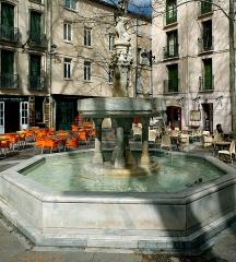 Fontaine publique des Nou Raigts - English: Fontaine publique dels Nou Raigs, 16th century fountain in Céret, France