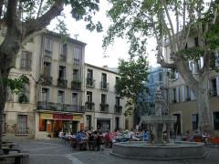 Fontaine publique des Nou Raigts - Català: Font dels Nou Raigs (Ceret, França).
