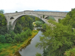 Pont sur le Tech - Català: Pont del Diable, Ceret (Vallespir)