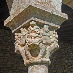 Ancienne abbaye de Saint-Michel de Cuxa ou Cuixà - Deutsch: Abbaye Michel-de-Cuxa, Kapitell, Löwen, Tiere fressend