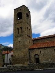 Eglise Sainte-Marie - Français:   Église Sainte-Marie de Corneilla-de-Conflent (66). Tour-clocher.