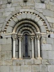 Eglise Sainte-Marie - Français:   Église Sainte-Marie de Corneilla-de-Conflent (66). Fenêtre de l\'abside.