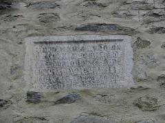 Eglise Sainte-Marie - Église Sainte-Marie de Corneilla-de-Conflent (66). Inscription lapidaire.