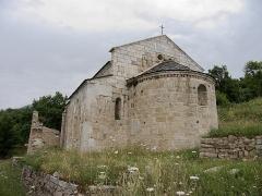 Ruines de l'ancienne église Saint-Martin - Français:   Vue de la façade est (abside), ancienne église Saint Martin (12Template:Ème siècle), Corsavy (Pyrénées-Orientales, Languedoc-Roussillon, France)