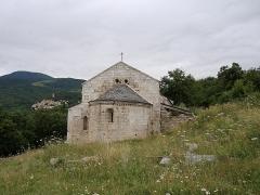 Ruines de l'ancienne église Saint-Martin - Français:   Vue de la façade est (abside), ancienne église Saint Martin (12e siècle), Corsavy (Pyrénées-Orientales, Languedoc-Roussillon, France)