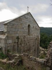 Ruines de l'ancienne église Saint-Martin - Français:   Vue de la façade ouest, ancienne église Saint Martin (12e siècle), Corsavy (Pyrénées-Orientales, Languedoc-Roussillon, France)