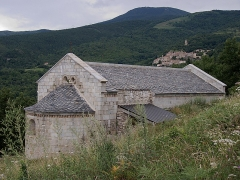 Ruines de l'ancienne église Saint-Martin - Français:   Vue de la façade nord, ancienne église Saint Martin (12e siècle), Corsavy (Pyrénées-Orientales, Languedoc-Roussillon, France)