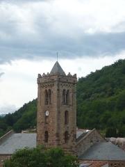 Eglise Sainte-Marie - Clocher de l'église Sainte-Marie de Coustouges