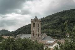 Eglise Sainte-Marie - Clocher de l'Eglise Notre-Dame de l'Aubépine, Coustouges (Pyrénées-Orientales, Languedoc-Roussillon, France)