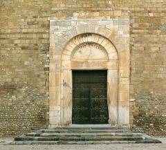 Eglise Sainte-Eulalie (ancienne cathédrale) - Deutsch: Elne, Frankreich: Cathédrale Sainte-Eulalie-et-Sainte-Julie, Hauptportal (SW)